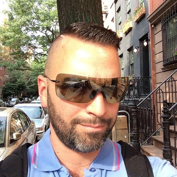 Photo taken at Manhattan Barber Shop by Robocub™ on 8/21/2014