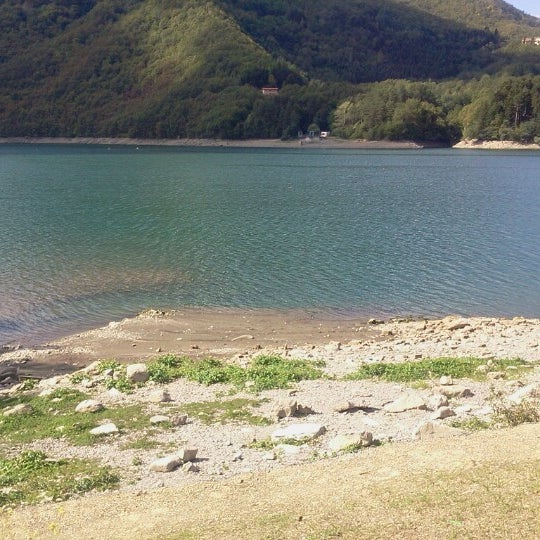 Photo taken at Lago di Suviana by Gloria B. on 9/16/2012