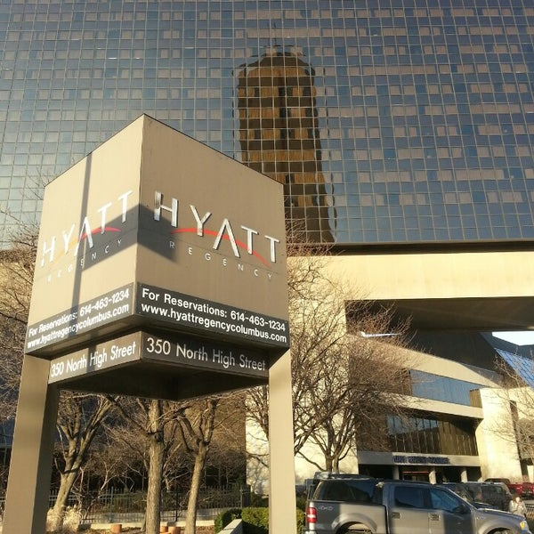 Photo taken at Hyatt Regency Columbus by Nick F. on 2/22/2014
