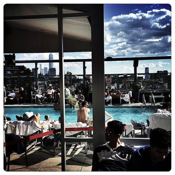 Photo taken at Gansevoort Meatpacking NYC by Patrick G. on 5/25/2014