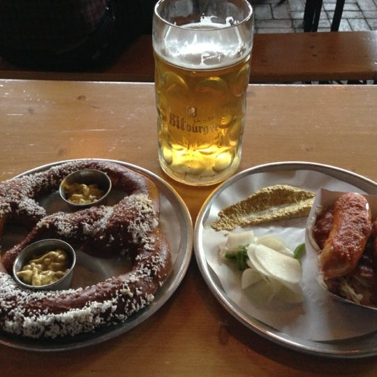 Photo taken at The Biergarten at The Standard by John W. on 10/27/2012
