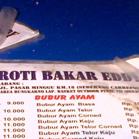 Photo taken at Roti Bakar Eddy by kristina d. on 11/19/2013