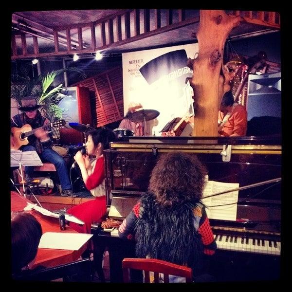 Photo taken at Nefertiti Jazz Cafe & Bar by Ichitaro K. on 12/23/2013