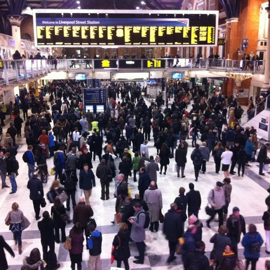 Photo taken at London Liverpool Street Railway Station (LST) by Dima G. on 12/17/2012