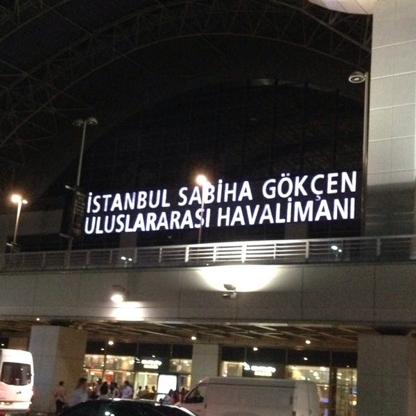 Photo taken at Istanbul Sabiha Gökçen International Airport (SAW) by Mahmut on 7/23/2013