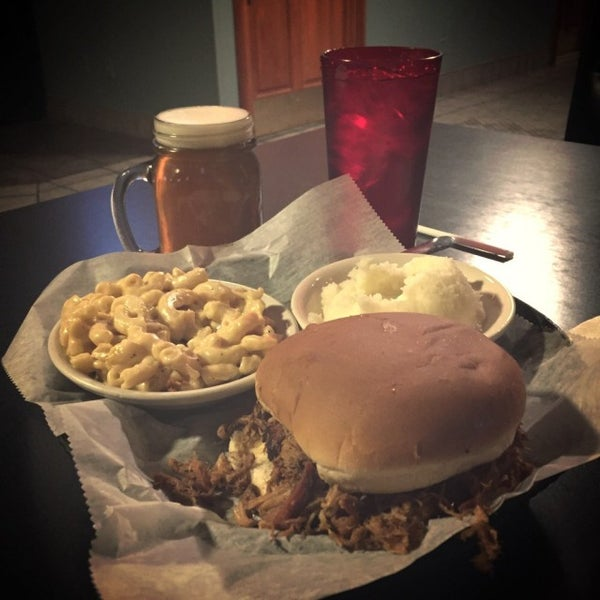 Photo taken at Momma's Mustard, Pickles, & BBQ by Price R. on 1/27/2015