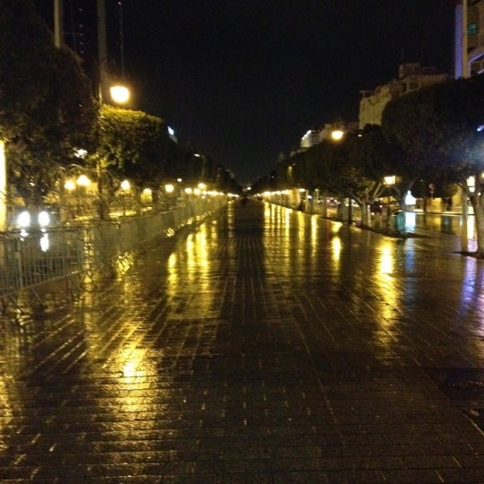 Photo taken at Avenue Habib Bourguiba by Salym Al Boukhari on 12/16/2012