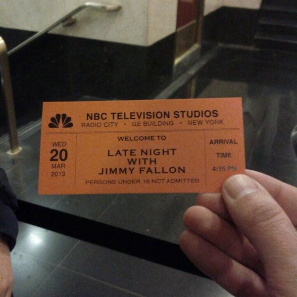 Foto tirada no(a) Late Night with Jimmy Fallon por Branko S. em 3/20/2013