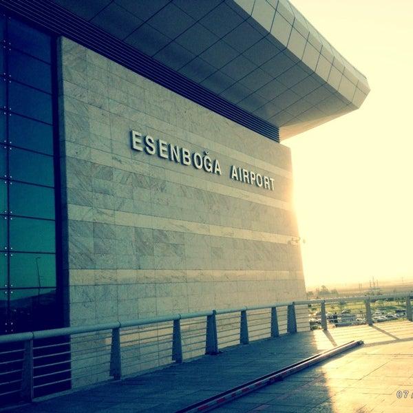 Photo taken at Ankara Esenboğa Airport (ESB) by Esin on 7/9/2013