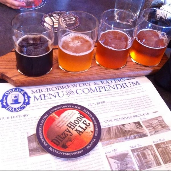 Photo taken at Obed & Isaac's Microbrewery and Eatery by Kevin G. on 7/4/2013