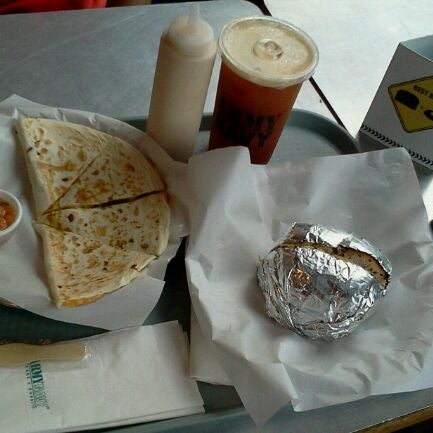 Photo taken at Army Navy Burger + Burrito by Margot T. on 9/17/2011