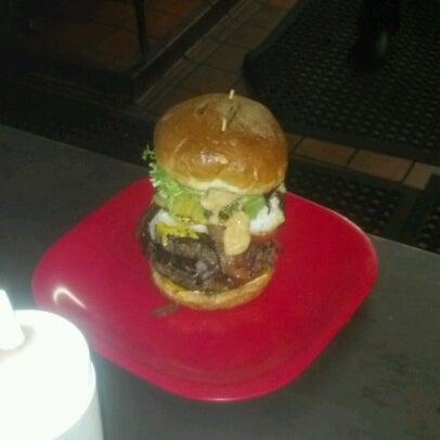 Photo taken at G Burger by Adam J. on 10/20/2012