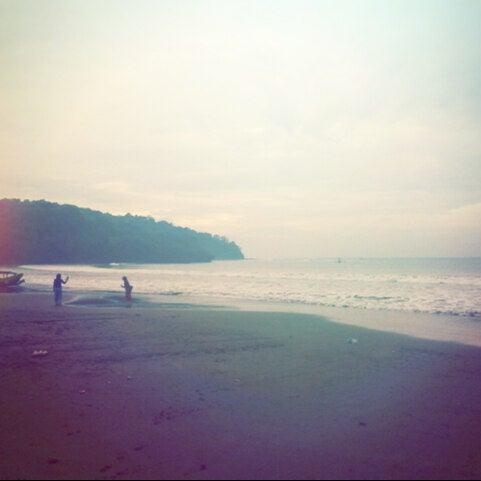 Photo taken at Pantai Barat Pangandaran by Mardel K. on 2/18/2013