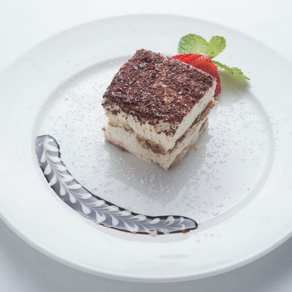 October is National Dessert Month! Join us for one of our favorites- the delectable Tiramisu.