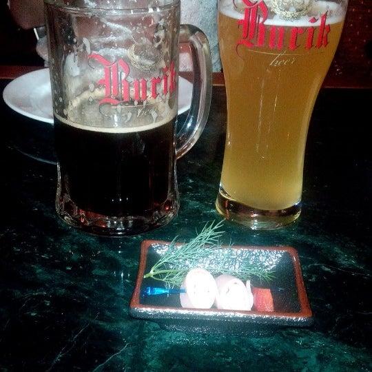 Очень вкусное пиво и закуски! Плюс подарочек от шефа =)