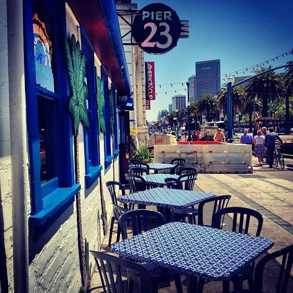 Photo taken at Pier 23 Cafe by Maximilian on 5/1/2013