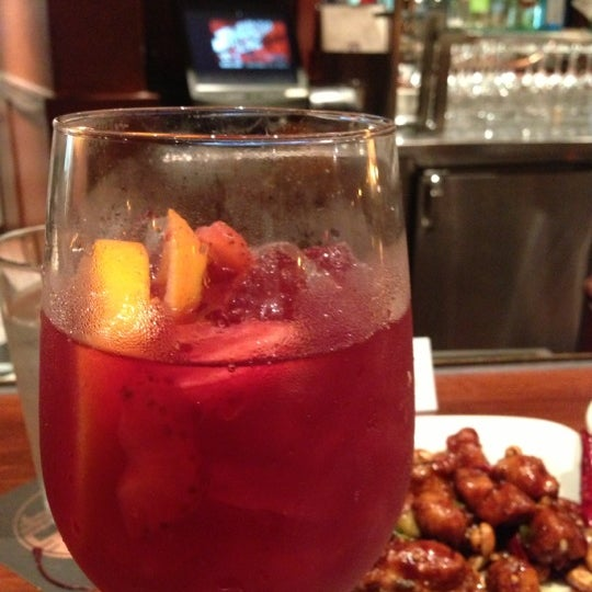 Holiday Sangria is beautiful!! Touch of cinnamon!