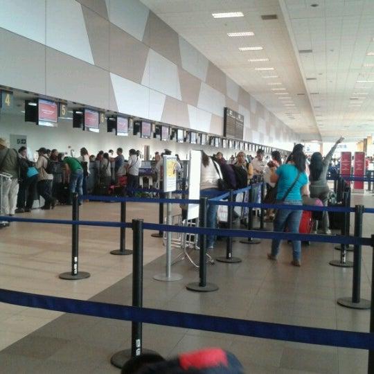 Photo taken at Jorge Chávez International Airport (LIM) by Tania G. on 4/7/2013