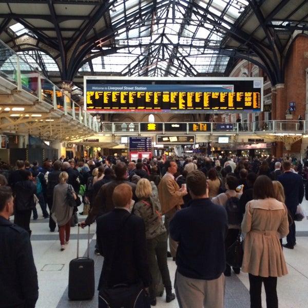 Photo taken at London Liverpool Street Railway Station (LST) by Сергей on 10/24/2013