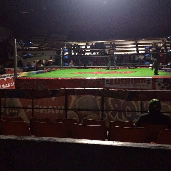 Photo taken at Arena Adolfo Lopez Mateos by Hector on 2/2/2014