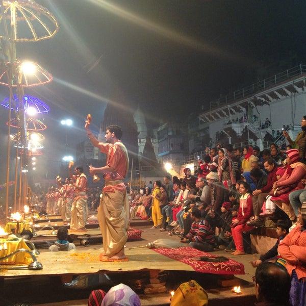 Photo taken at Dasaswamedh Ghat by Marharyta D. on 12/24/2015
