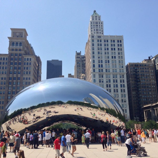 Photo taken at Cloud Gate by Anish Kapoor by Ross S. on 8/10/2013
