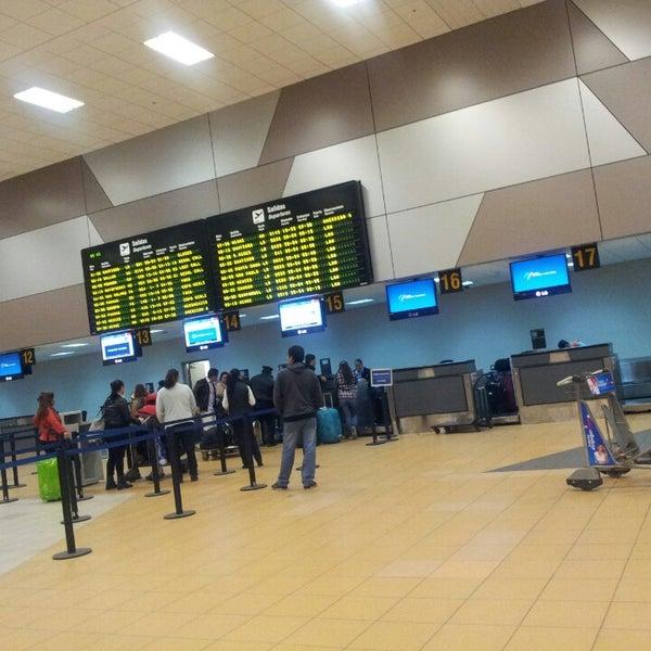 Photo taken at Jorge Chávez International Airport (LIM) by Arnold G. on 7/12/2013