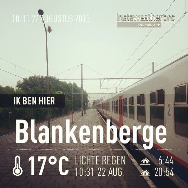 Photo taken at Station Blankenberge by Dries V. on 8/22/2013