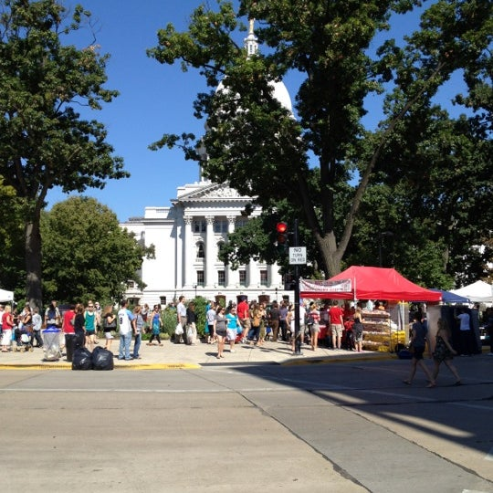 Photo taken at Dane County Farmers' Market by Jeremy C. on 9/15/2012