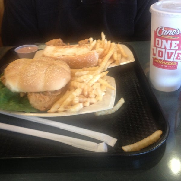 Photo taken at Raising Cane's by Lyndi on 1/21/2013