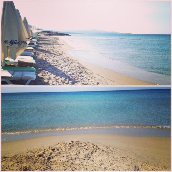 Photo taken at Ramo Beach by Buse Y. on 7/14/2013