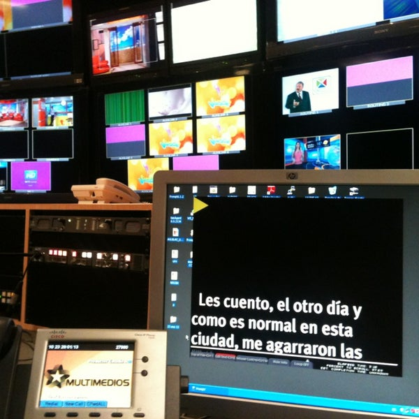 Photo taken at Multimedios Televisión by Moni A. on 1/29/2013