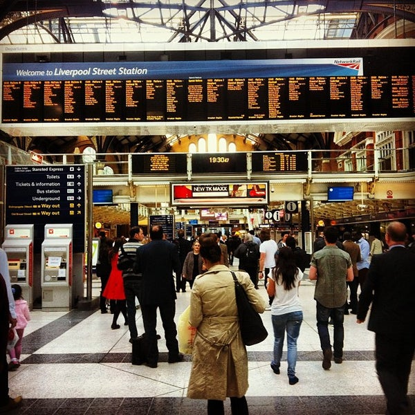 Photo taken at London Liverpool Street Railway Station (LST) by Sol B. on 6/3/2013
