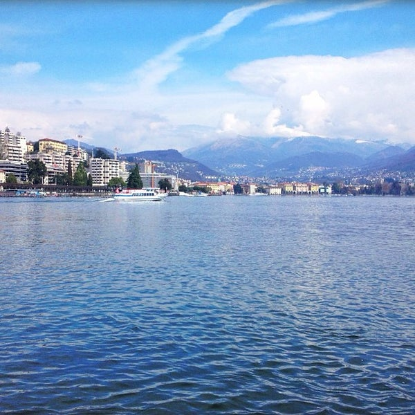 Photo taken at Lago di Lugano by Kirill S. on 4/6/2013