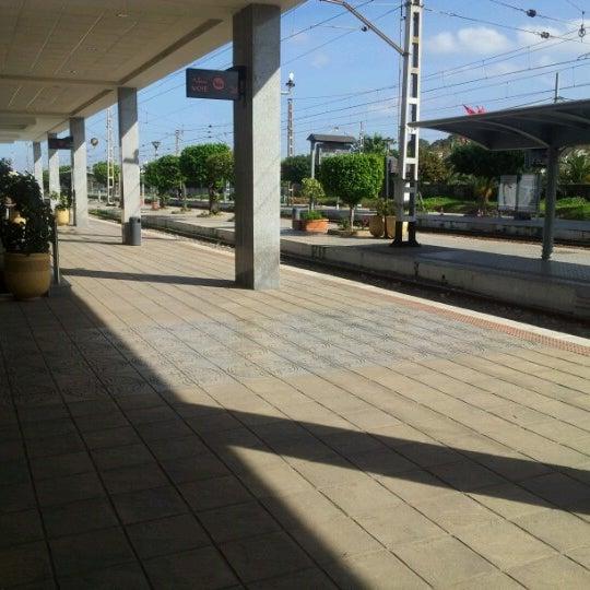 Photo taken at Gare de Mohammédia  محطة المحمدية by عقيد ي. on 11/20/2012