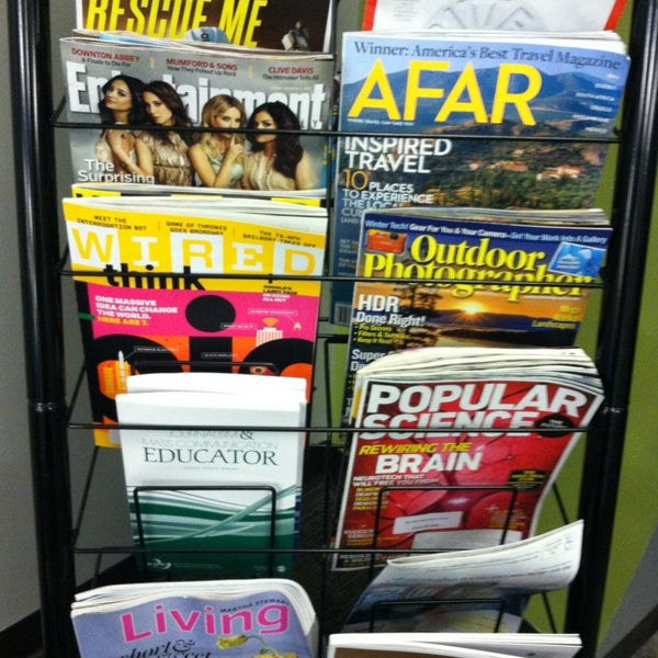 Looking for something to do between classes? The j-Pad has a variety of magazines to read.