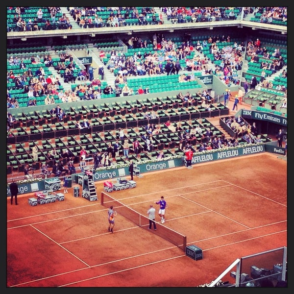 Photo taken at Stade Roland Garros by Florian D. on 6/3/2013