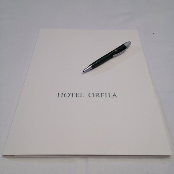 Photo taken at Hotel Orfila by Lucía P. on 12/11/2013