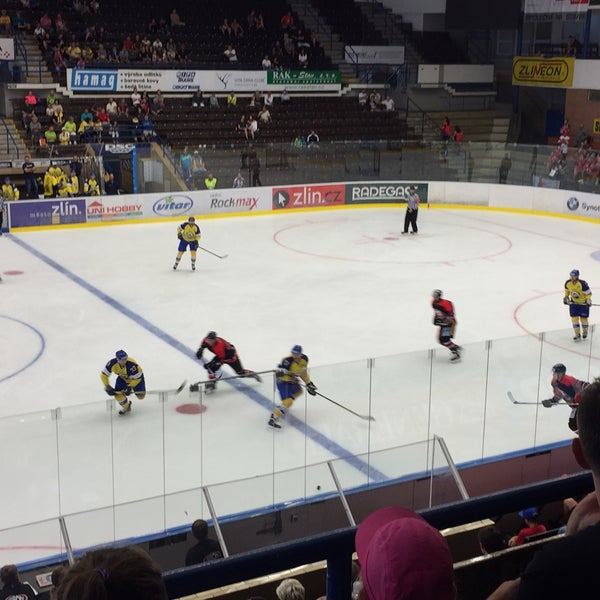 Photo taken at Zimní stadion Luďka Čajky by Tomáš B. on 8/15/2017