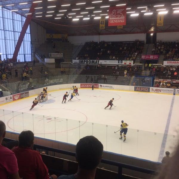 Photo taken at Zimní stadion Luďka Čajky by Tomáš B. on 8/24/2017