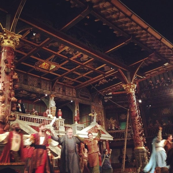 Photo taken at Shakespeare's Globe Theatre by Amber on 9/18/2014