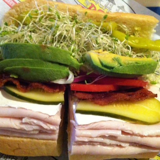 Photo taken at Beach Hut Deli by Keely S. on 10/20/2012