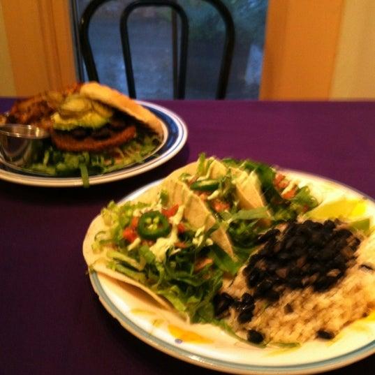 Photo taken at Sugar Plum Vegan Cafe by Jason M. on 12/15/2012