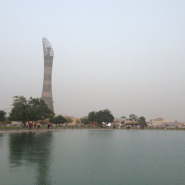 Photo taken at Aspire Park by Mohammed A. on 4/6/2013