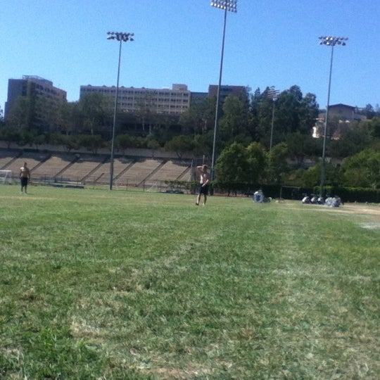 Photo taken at UCLA Intramural Field by Amanda H. on 9/19/2012