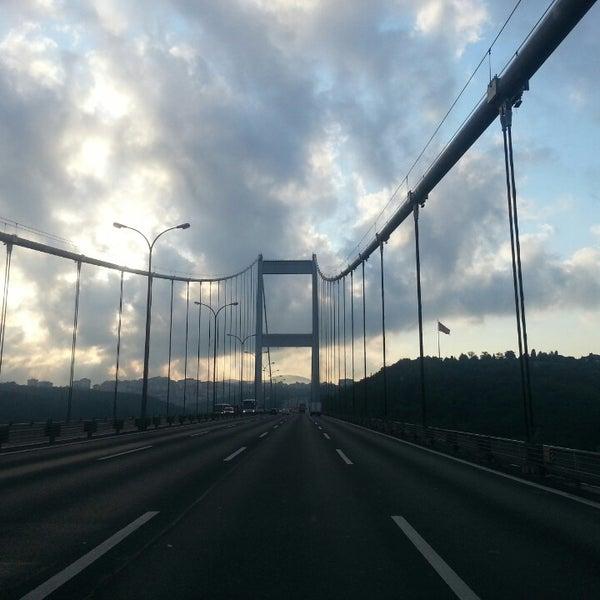 Photo taken at Fatih Sultan Mehmet Bridge by Murat K. on 7/13/2013