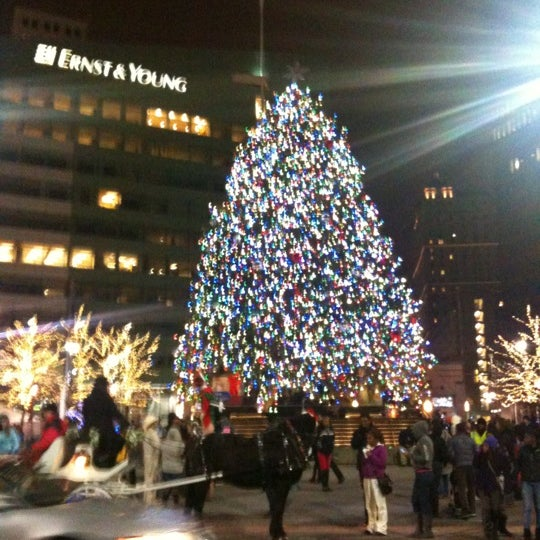 Photo taken at Campus Martius by Lisa D. on 11/25/2012