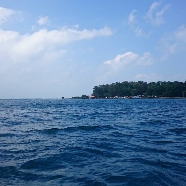 Photo taken at Pulau Pramuka by Aylwin H. on 7/19/2015