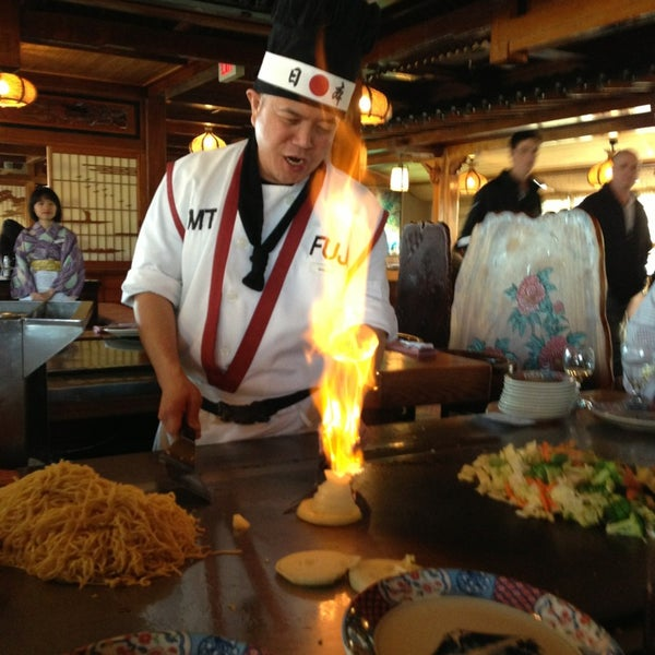 Photo taken at Mt. Fuji Japanese Steak House by Victoria A. on 3/23/2013