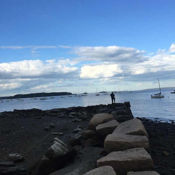 Photo taken at East End Beach by Lindsay K. on 9/2/2016